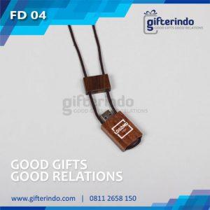 FD04 Flashdisk Kayu kalung Custom