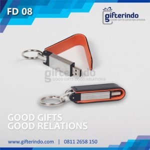 FD08 Flashdisk Metal Kulit Custom