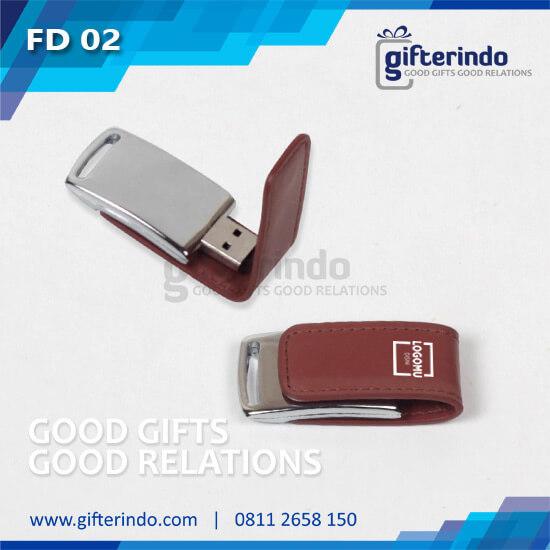 FD02 Flashdisk Kulit Custom
