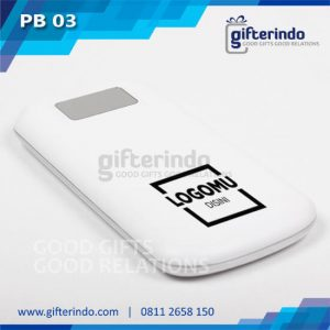 PB03 Power Bank Custom Putih Android