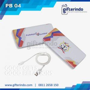 PB04 Power Bank Custom Putih Android Poltekpel Sumbar
