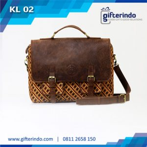 KL02 Tas Kulit Laptop Custom