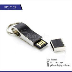Flashdisk Kulit Metal Gantungan Kunci