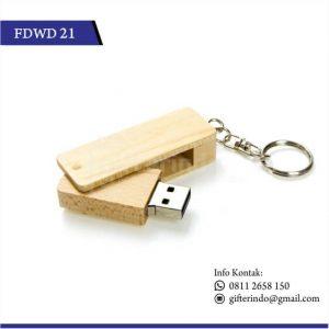 Flashdisk Kayu Gantungan Kunci