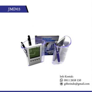 Jam Meja Pen Holder dan Kalender