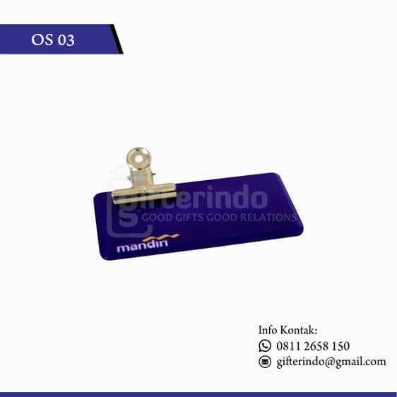 Name Tag Custom Bank Mandiri