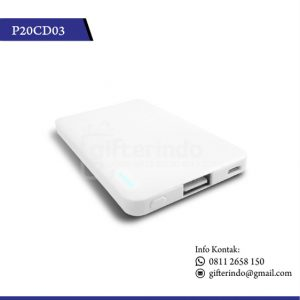 Powerbank putih custom